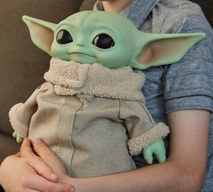 Star Wars The Child Plush Toy, 11-inch Small Yoda-like Soft Figure from The Mandalorian, Green