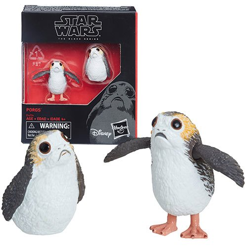 Star Wars The Black Series Porg 6-Inch Scale Action Figure Set