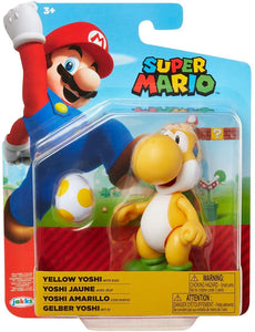 "Super Mario 4"" Yellow Yoshi Articulated Action Figure with Egg"