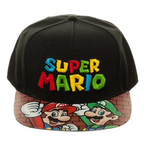 Super Mario Bros. Printed Vinyl Bill Snapback Hat