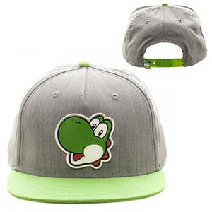 Super Mario Bros. Yoshi Gray and Green Snapback Hat