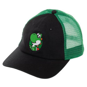 Super Mario Bros. Yoshi Washed Mesh Back Trucker Hat