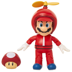 "World of Nintendo 4"" Propeller Mario Action Figure with Coin Action Figure"