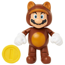 "World of Nintendo 4"" Tanooki Mario with Coin Action Figure"