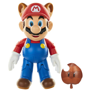 World of Nintendo Raccoon Mario 4 inch Action Figure
