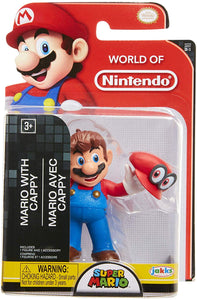 World of Nintendo Super Mario Cappy Mario 2.5-Inch Mini Figure