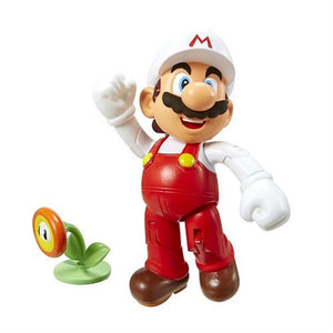 "World of Nintendo 4"" Fire Mario Figure Wave 3"