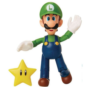 World of Nintendo Super Mario Luigi with Super Star 4""