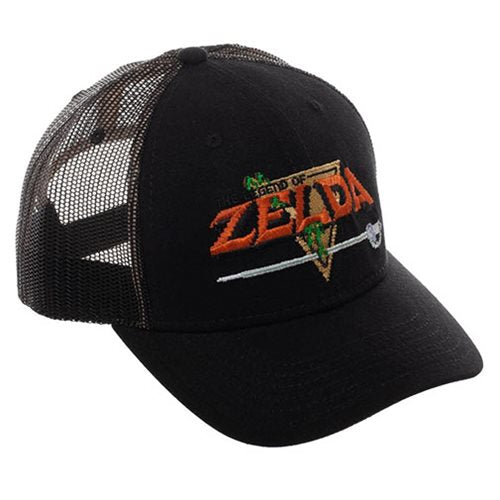 Zelda Video Game Black Pre-Curved Snapback Hat