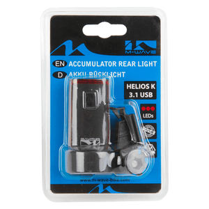 M-WAVE Accumulator Rear Light Helios K 3.1 Usb