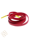 Ruby Red Leather Shoelace