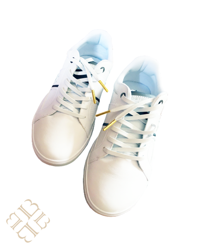 Flawless White Leather Shoelace