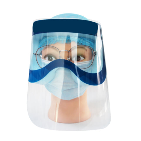 Anti-fog Face Shield with Goggles 320*220mm & Shield Thickness 0.18mm MOQ 8000 Pieces