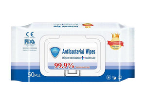 Antibacterial Wipes 75% Alcohol  - Available in 20, 40, 80, or 120 Pack.