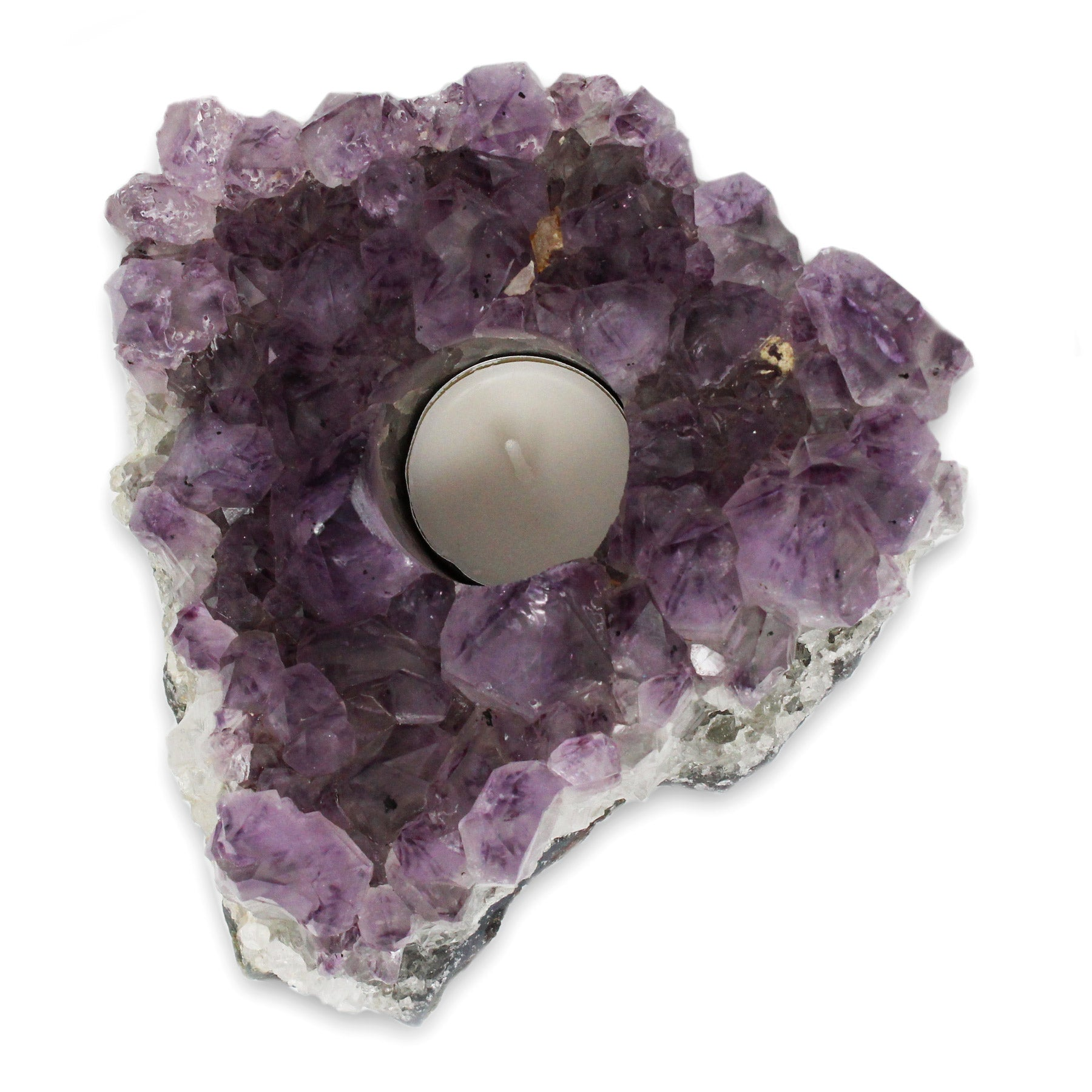 Amethyst Tea Light Candle Holder - A