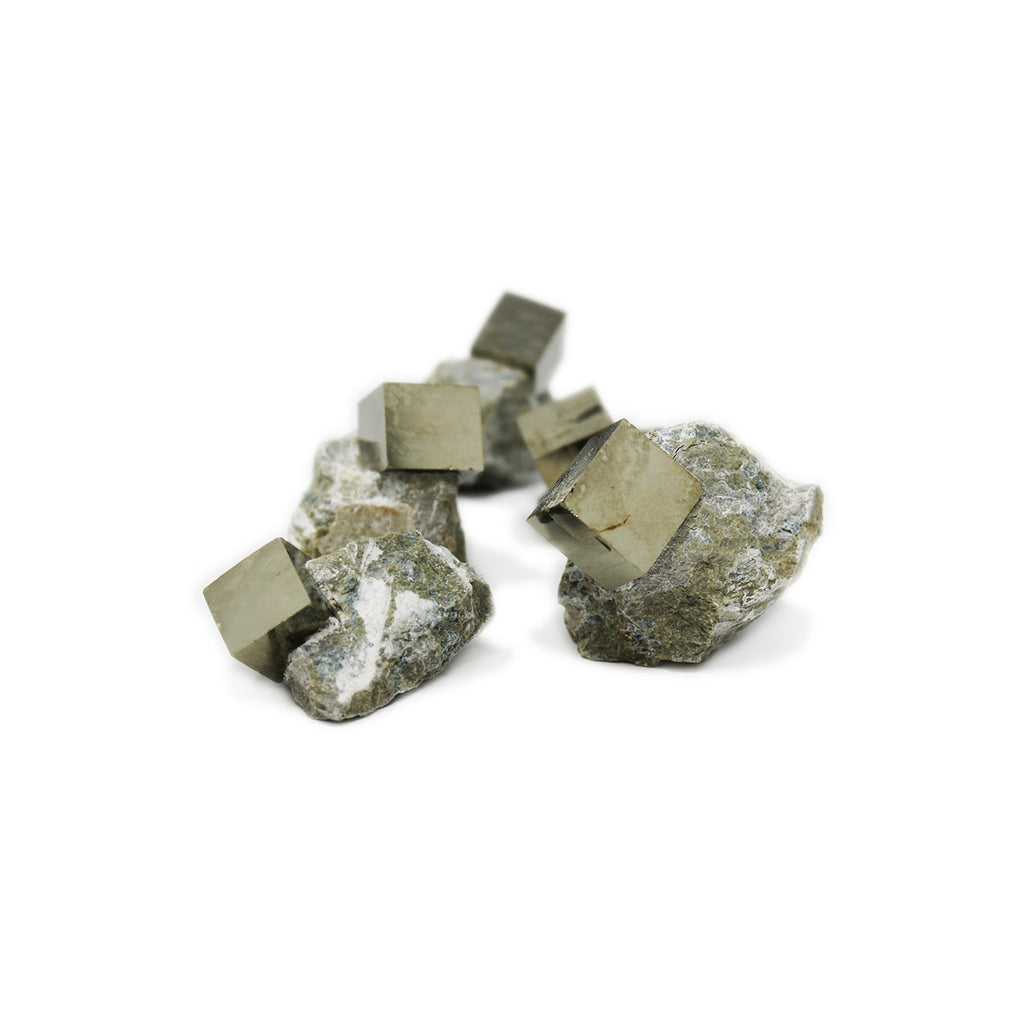 Pyrite Cube In Matrix