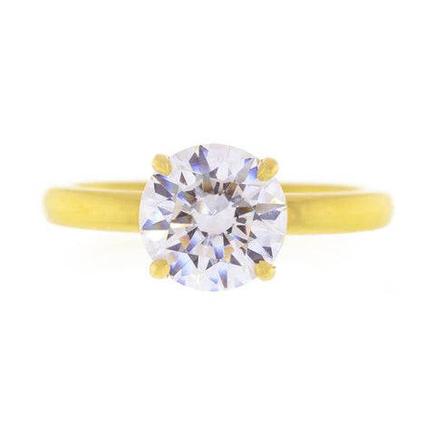 18kt Yellow Gold Solitaire Semi-Mount Ring