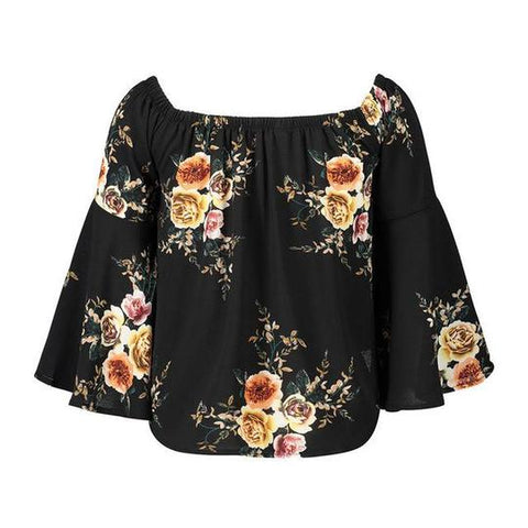 Women's Off Shoulder Bohemian Blouse
