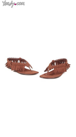 BRAIDED FRINGED TASSEL FLATS