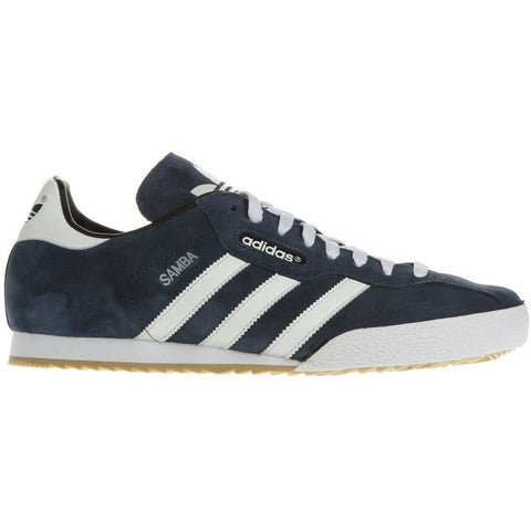 ADIDAS ORIGINALS SAMBA SUPER SUEDE TRAINERS - NAVY