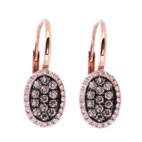 Champagne Brown Diamond Drop Earrings