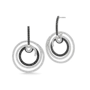 ALOR Black Label White Gold Diamond Earrings 03-08-BL11-18