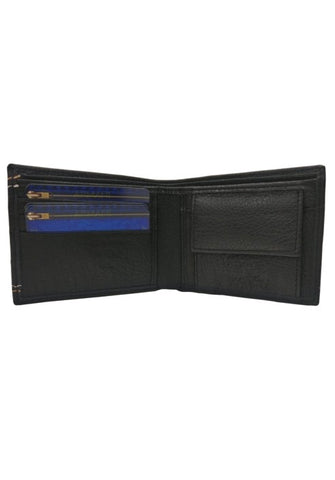 BLACK MILD LEATHER WALLET