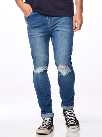 RIDERS BY LEE R1 SKINNY IN OUTLAND BLUE