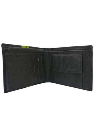 BLACK SOFTY LEATHER WALLET