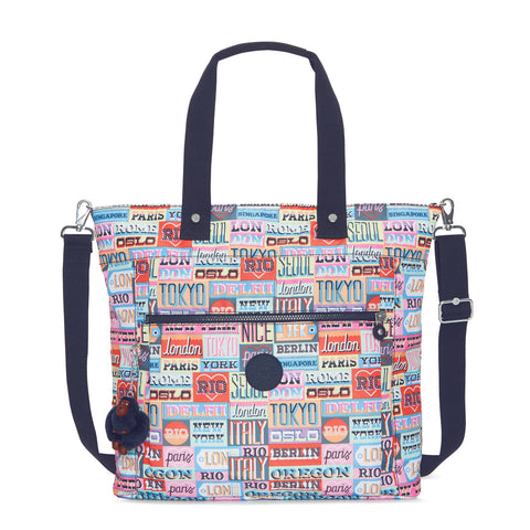 Lizzie Printed Tote Bag - Hello Weekend