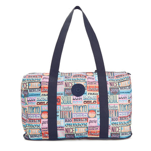 Honest Printed Foldable Duffel Bag - Hello Weekend