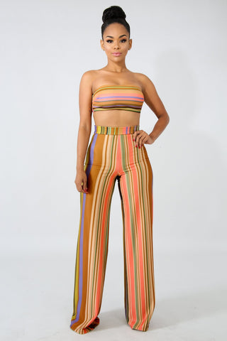 Kirah Multi-Stripe Pant Set
