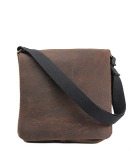 "The Original 10"" Chocolate Grizzly - Messenger Bag Made in the U.S.A. - 10-MES-CHO-GZ-LAP"