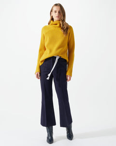 LUXE DRILL KICK FLARE TROUSERS