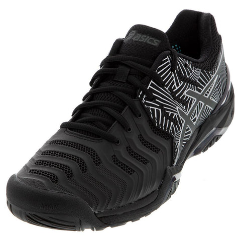 Asics Men's GEL-Resolution 7 LE Tennis Shoes Black and Silver