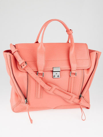Coral Shark Embossed Leather Large Pashli Satchel Bag