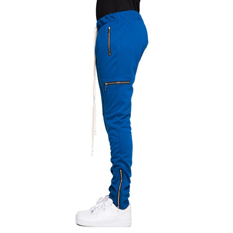BLUE-ZIP CARGO PANTS
