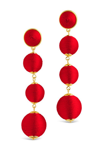 Red Multi Orbit Drop Earrings