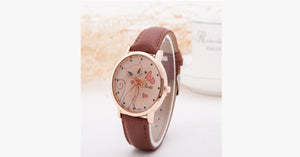 Cat Fashion Cartoon Watch-Coffee color