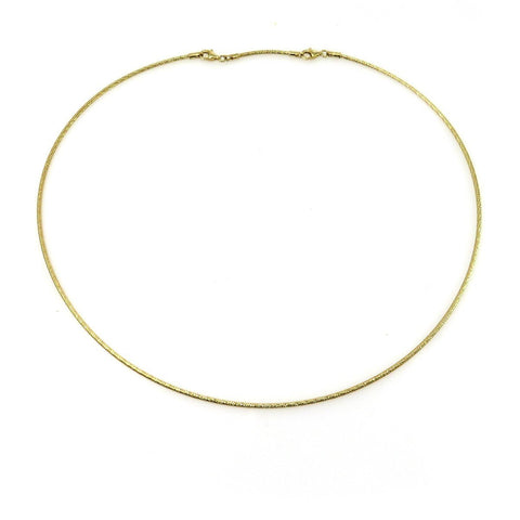 14K GOLD TEXTURED CABLE NECKLACE