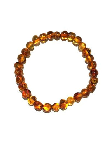 Beaded Amber Stretch Bracelet