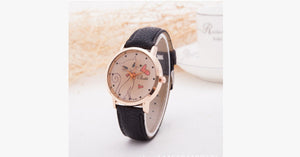 Cat Fashion Cartoon Watch-Black color