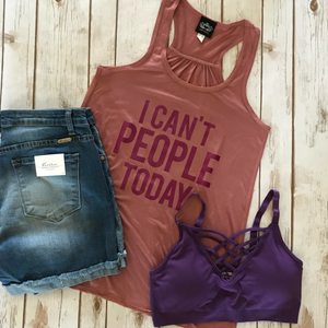 I Can't People Graphic Tank
