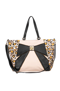 Betsey Johnson - Beige & Black Leopard Print Purse