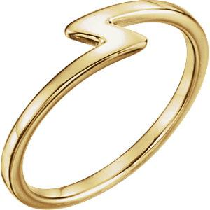 14K Yellow Z Stackable Ring