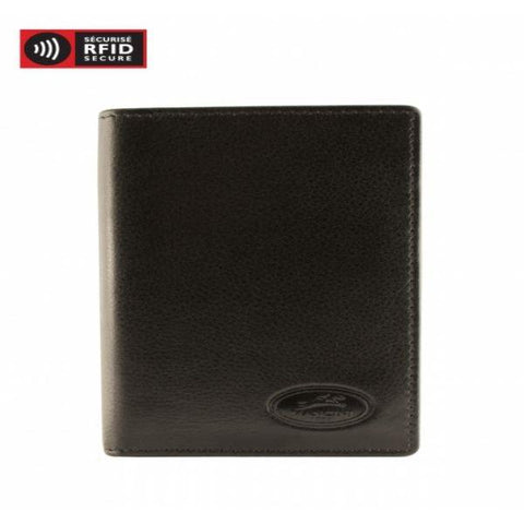 MANCINI LEATHER RFID SECURE CREDIT CARD CASE