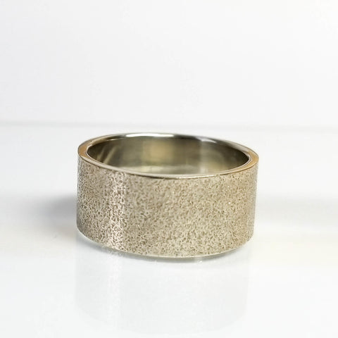 8mm Sand Wedding Band, 14k gold