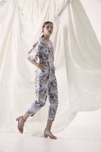Event Jumpsuit - Bird & Banksia, Blue