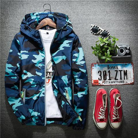 MEN BOMBER JACKETS THIN 3M REFLECTIVE CAMOUFLAGE JACKET FOR MEN