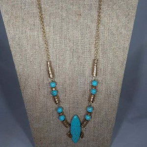 "40"" Turquoise Statement Necklace"